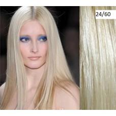 Волосы на заколках цвет №24/60 жемчужный блонд