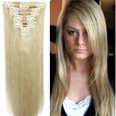 Волосы на заколках цвет №16/613 пепельный блонд