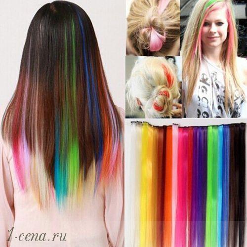 Как сделать цветные пряди волос фото 949