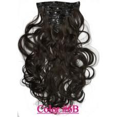 Волосы на заколках волнистые цвет №6B шоколад
