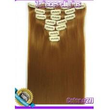 Волосы на заколках цвет №27J  средне -золотой