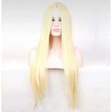 Парик длинный без челки блонд