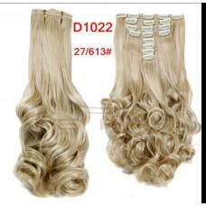 Волосы на заколках волнистые цвет №27/613