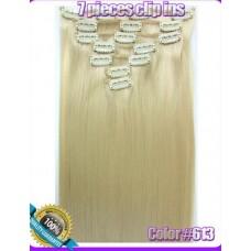 Волосы на заколках цвет №613 блонд
