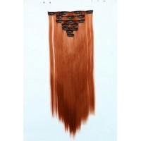 Волосы на заколках цвет №119 огненно-рыжий