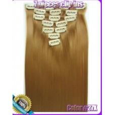 Волосы на заколках цвет №27X бежевый  блонд