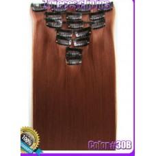 Волосы на заколках цвет №30B медно-рыжий